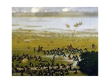 Assault of IV Column Giclee Print by Candido Lopez