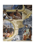 Rainier Grimaldi's Naval Battle Against Guy, Count of Flanders Giclée-vedos tekijänä Leandro Bassano