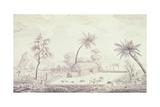 Port of Ohamaneno on Ulietea Island, Today Raiatea Giclee Print by James Hayllar