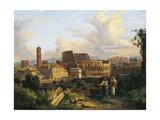 The Colosseum in Rome, Detail Reproduction procédé giclée par Koloman Moser