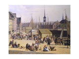 Denmark, Trade Life at the Port of Copenaghen, 1844, Detail Giclee Print by Salvator Rosa