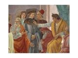 Saint Peter Confronts Simon Magus before Nero Giclée-tryk af Brunelleschi, Filippo