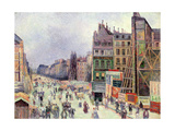 Drilling in the Rue Reaumur, 1896 Giclee Print by Maximilien Radiguet