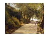 The Walk Up to Ariccia, Detail, 1839 Giclée-tryk af Giambattista Pittoni