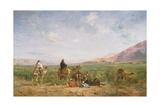 Travellers Resting at an Oasis Giclee Print by Eugene Lami