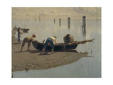 The Lagoon at Mazzorbo on a Summer's Say, Detail Giclee Print by Guglielmo Ciardi