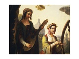 The Storytellers of the Decameron, 1851 Giclée-tryk af Francesco Primaticcio