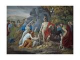Theseus and the Minotaur, 1824 Gicléedruk van Giuseppe Castiglione