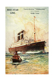 Red Star Line, Triple Screw Pennland, Ex Pittburgh Giclee Print