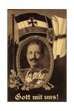 Künstler Gott Mit Uns, Kaiser Wilhelm II, Flagge Giclee Print