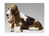 Basset Hound and Puppy Gicléetryck av Sandro Nardini