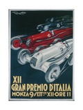 Twelfth Italian Grand Prix at Monza, September 9, 1934 by Plinio Codognato, Poster Impressão giclée
