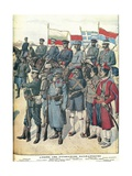 Balkan Wars - Balkan Army Uniforms from Petit Journal, 1912 Giclee Print