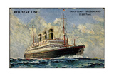 Künstler Red Star Line, Triple Screw Belgenland Giclee Print