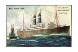 Künstler Red Star Line, Triple Screw Westernland Giclee Print