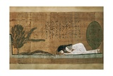 Papyrus of Scene of Worship of the Crocodile God Sobek Giclée-tryk