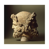 Two-Faced Janus Head from Vulci, Montalto Di Castro, Viterbo Province, Italy Reproduction procédé giclée