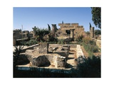 Tunisia, Utica, Ruins of House of Cascades, with Peristyle Garden at Archaeological Site Giclée-tryk