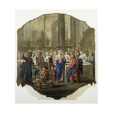 Brylluppet i Kana Giclée-tryk af Vittorio Maria Bigari