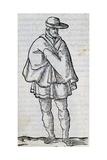 Man from Granada, Engraving Giclée-Druck von Cesare Vecellio
