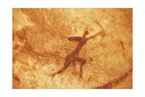 Algeria, Sahara Desert, Tassili-N-Ajjer National Park, Rock Carving Depicting Man with Bow Giclée-tryk