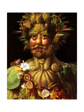 Surreal Portrait of Emperor Rudolf II, 1590 Giclée-tryk af Giuseppe Arcimboldo