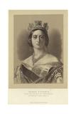 Portrait of Queen Victoria Reproduction procédé giclée par Franz Xaver Winterhalter