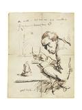 Self-Portrait Gicléetryck av Sir William Orpen
