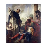 Miracle of St. Dominic Giclée-tryk af Antonio Balestra