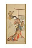 Jigoku Dayu Giclee Print by Kawanabe Kyosai