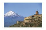 Armenia - Mount Ararat and Monastery at Khor Virap Giclee Print