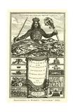 Frontispiece to Hobbes's Leviathan, 1651 Impressão giclée