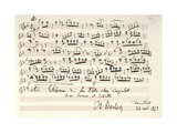 Handwritten Score of Romeo and Juliet by Hector Berlioz, 1843 Reproduction procédé giclée