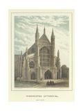 Winchester Cathedral, West Front Reproduction procédé giclée par Hablot Knight Browne