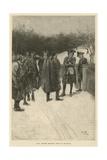 Paul Revere Bringing News to Sullivan Gicléedruk van Howard Pyle