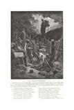 The Vision of Ezekiel Giclee-trykk av Gustave Doré
