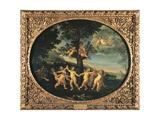 Dance of Cupids, 1620-1630 Giclée-tryk af Francesco Albani