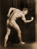 Study of a Male Nude, C.1900 Reproduction photographique par Wilhelm Von Gloeden