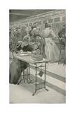 At Work in a Telephone Room Impressão giclée por William Henry Margetson