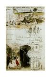 Sketchbook from Morocco, 1832 Reproduction procédé giclée par Eugene Delacroix