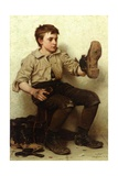 The Boot Boy, C.1885-90 Gicléedruk van John George Brown