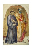 St Francis and St Peter Giclée-tryk af Taddeo di Bartolo