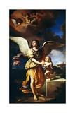 Guardian Angel, 1641 Lámina giclée por  Guercino