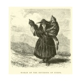 Woman of the Environs of Cuzco Giclee Print by Édouard Riou