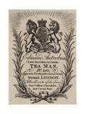 Tea Man, Edmund Antrobus, Trade Card Giclée-vedos