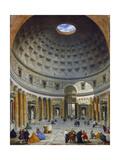 Interior of the Pantheon, Rome, C.1734 Reproduction procédé giclée par Giovanni Paolo Pannini