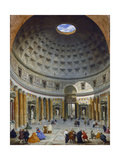 Interior of the Pantheon, Rome, C.1734 Giclée-tryk af Giovanni Paolo Pannini