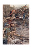 Epaminondas Defending Pelopidas Giclee Print by William Rainey