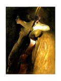 The Cellist, 1898 Gicléedruk van John Alexander