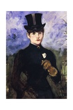 Portrait of Horsewoman Giclee Print by Edouard Manet